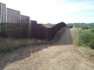 wall at Sasabe AZ